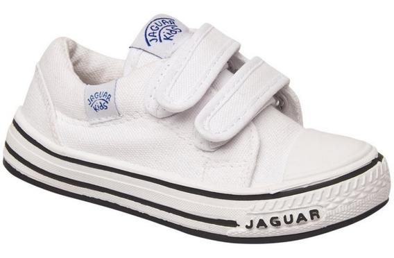 Zapatillas Jaguar Kids Colegial Escolar Abrojo Lona Nene 129