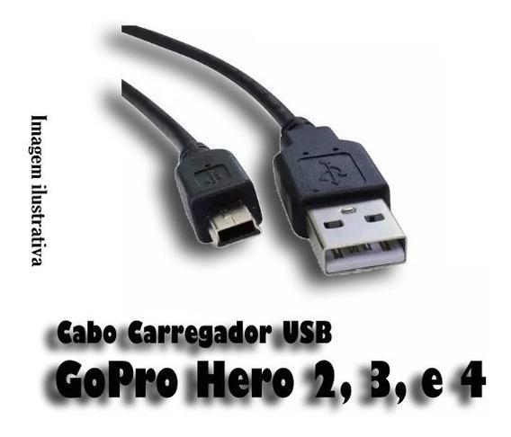 Cabo De Dados/carregador Usb Para Gopro Hero 2, 3 E 4.
