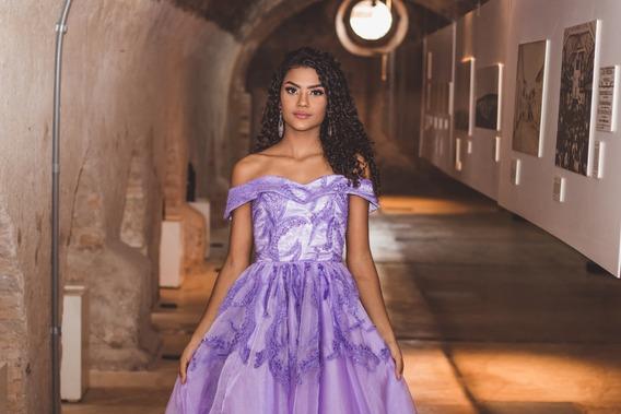 Vestido De Debutante Lilás