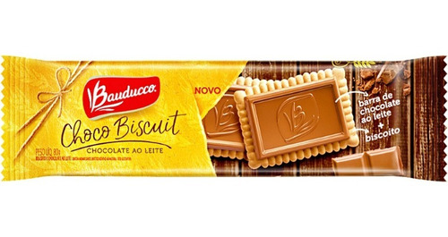 Biscoito Choco Biscuit Ao Leite Bauducco 80g