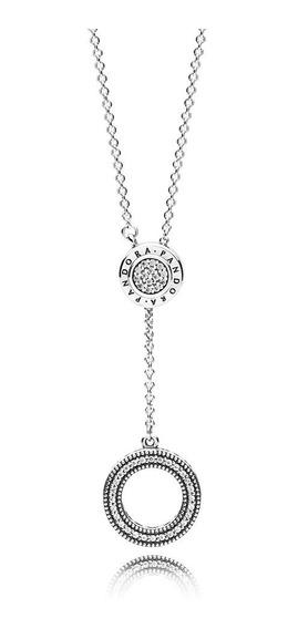 Collar Pandora Insignia Plata S925 Ale Con Estuche Y Bolsa
