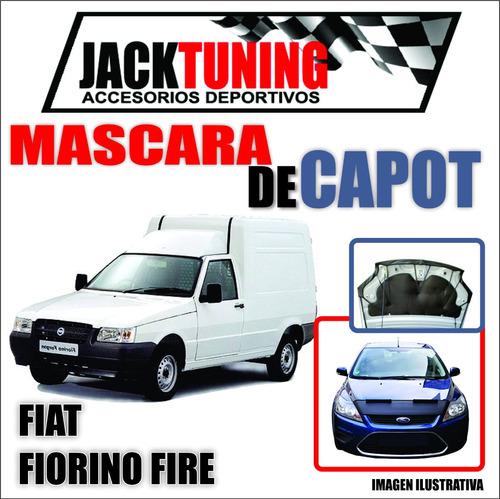 Mascara De Capot Fiat Fiorino Fire En Ecocuero