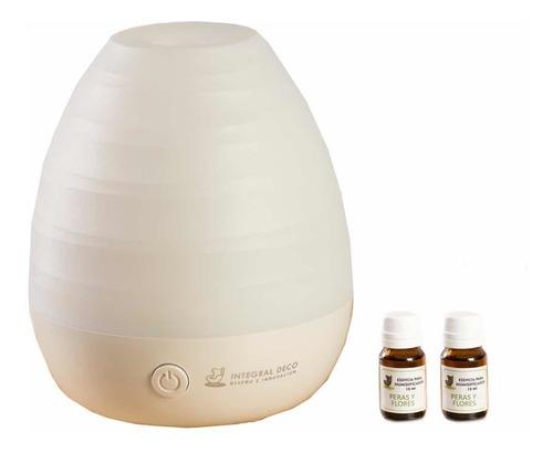Imagen 1 de 10 de Difusor Humidificador  White + Aromaterapia + 2 Esencia