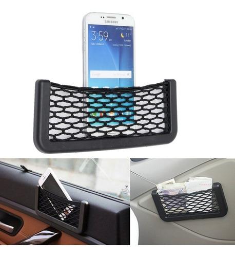 Soporte Auto Tipo Compartimento Red Elastica Celular Y Otros