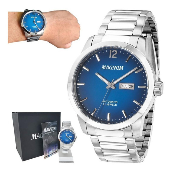 Relógio Magnum Automático Masculino Ma33835f