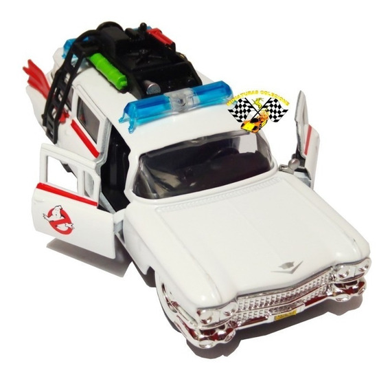 Miniatura Caça Fantasmas Ecto 1 Cadillac Jada Escala 1/32