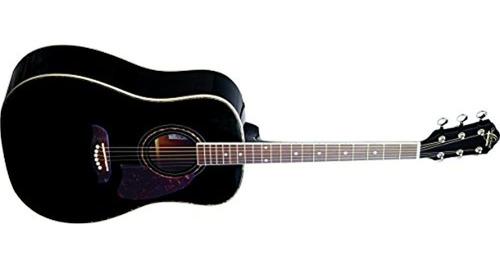 Imagen 1 de 5 de Oscar Schmidt Og2bau Acoustic Dreadnought Size Guitar Black