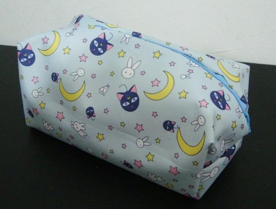 Neceser Cartuchera Porta Cosmeticos Sailor Moon Luna Bunny