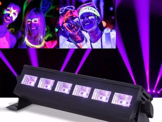 Luz Negra Ultravioleta Led Uv Projetor 20w Barra Lk-uv6 Neon