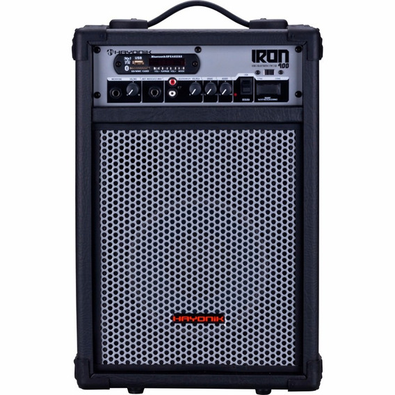 Caixa Multiuso 60w Bluetooth Usb Fm Sd Iron400 Preta Hayonik