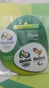 Pin - Logo Olímpico + Logo Paralímpico - Rio 2016 - Oficial