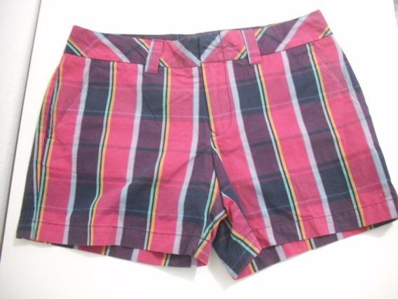 Shorts Tommy Listrado Tam 42 Usado Bom Estado