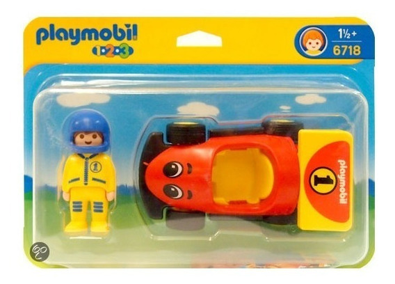 Playmobil 123 Carrinho De Corrida Com Piloto 6718 Sunny