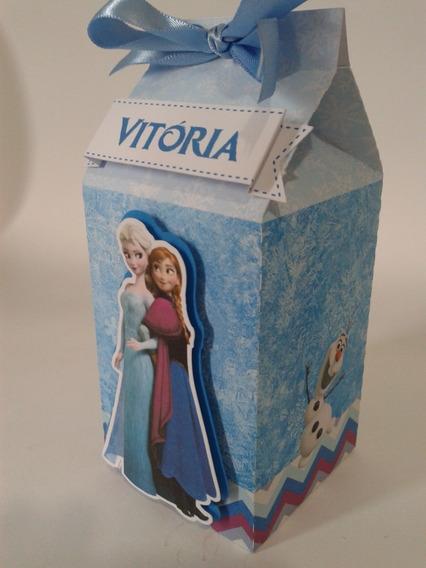 20 Caixa Milk Frozen Olafo Ana Elsa Lembrancinhas Personali