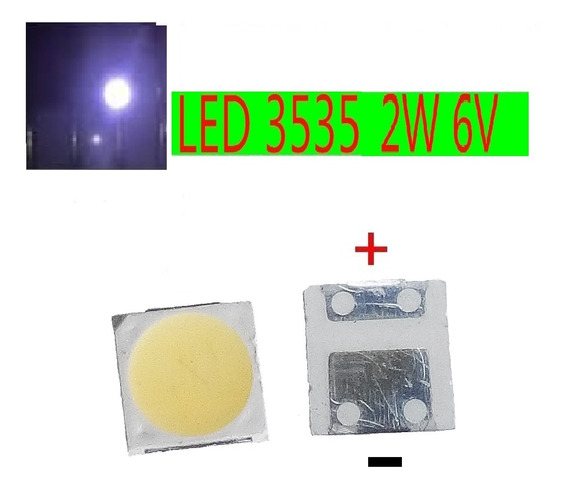 50x Led 6v 2w 3535 Invertido Tv Lg - Philips - Sharp Wooree