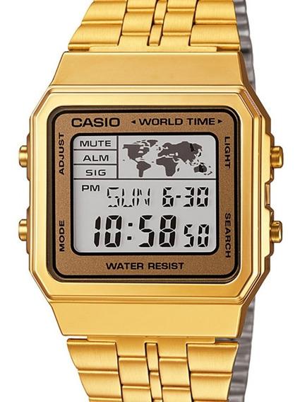 Relógio Casio Unissex Dourado Vintage A500wga-9df - Nfe