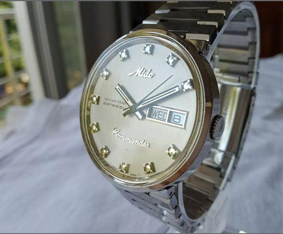 Reloj Mido Comander Plata Daydate Edicion Especial