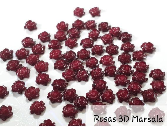 300 Rosas 3d Para Unhas Flor 3d 8 Cores Disponivel