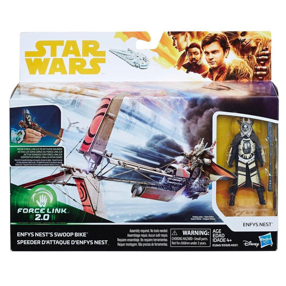 Figura De Enfys Nest Y Moto Swoop De Star Wars Force Link 2.