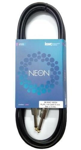Cable Plug Neon 3 Metros Para Guitarra Bajo Teclado Ukelele