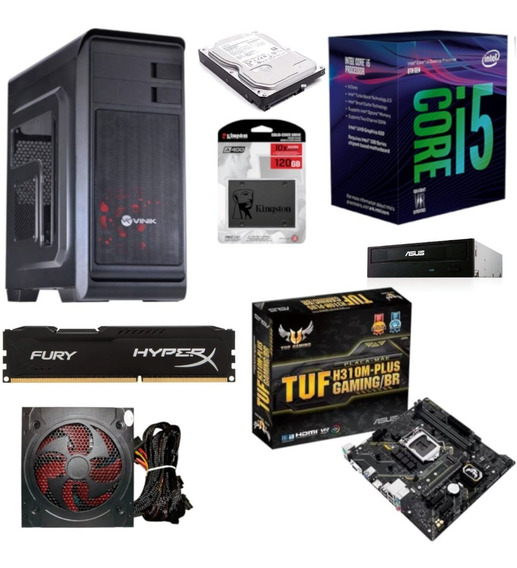 Pc Hunter 8400 Tuf H310m Plus Hx 8gb Ssd 120gb Hd 1tb Bc500
