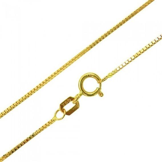 Corrente Feminina Ouro 18k Cordão Colar Veneziana 45cm