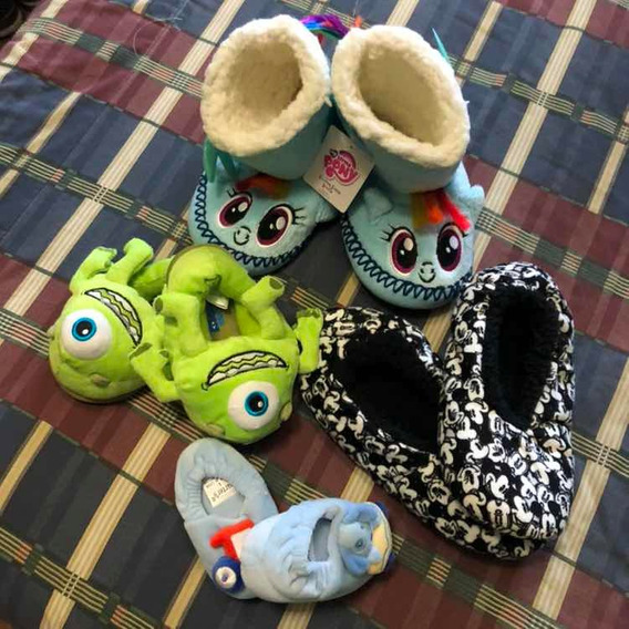 Pantuflas Disney Monster Ink, Pony, Mickey !! Nuevo Leer D