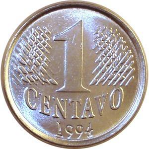Moeda Antiga De 1 Centavo (r$ 0,01) - 1994