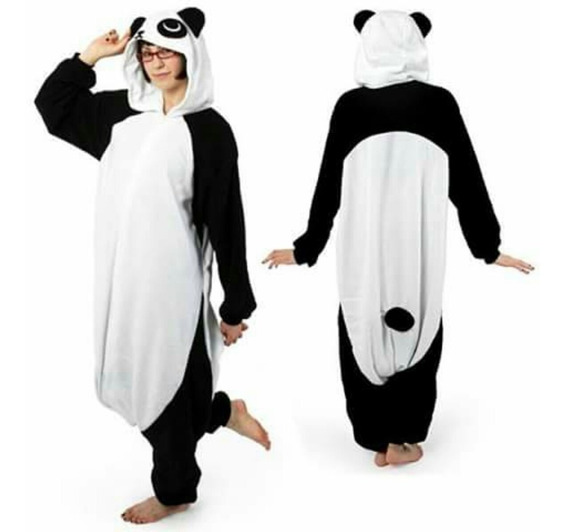 Kigurumi Pijama De Panda Tela Hipoalergenica Y Bordada