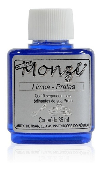Limpa Prata Monzi - Monzi 100% Original - Limpa Prata 35ml Monzi