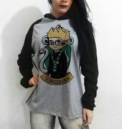 Sonserina Casaco - Blusa De Frio Feminina Harry Potter