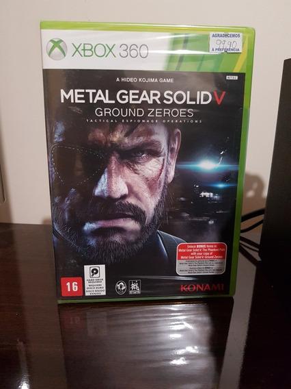 Metal Gear Solid V 5 Groud Zeroes Xbox 360 Lacrado Fisica