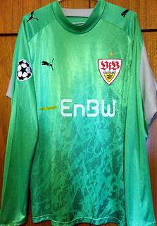 Camisa Stuttgart 2007/08 Preparada Jogo Champions League