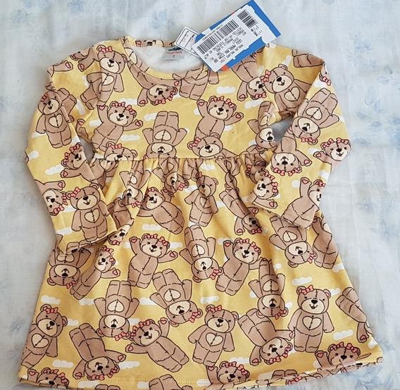 Roupa Para Bebê Frio Vestido Manga Comprida 12a14m
