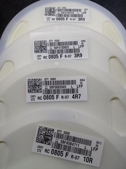 Resistor Original Smd 0805 10r 4r7 3r9 3r3 100 Peças De Cada