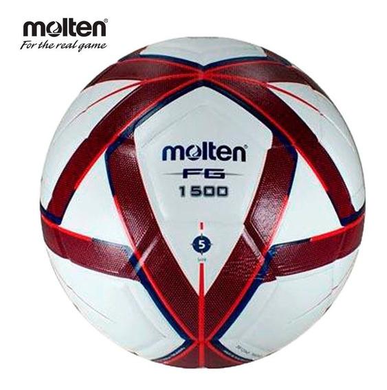 Balon Futbol Molten Forza Laminado F5g 1500 Tinto/blanco N°5