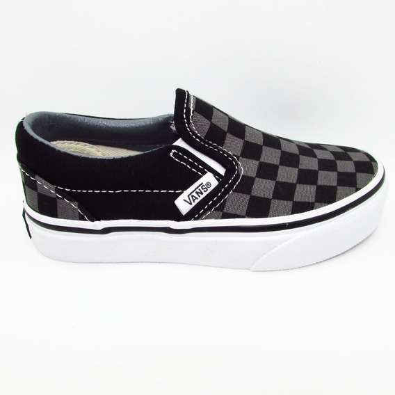 Tenis Vans Classic Slip On Vn000zbueo0 Checkerboard Black Pe
