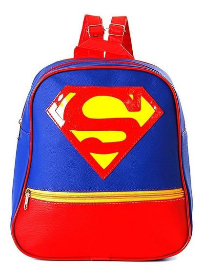 Mochila Infantil Superman De Costas Pequena Escolar