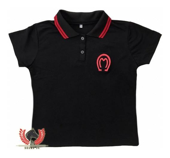 Camisa Country Mangalarga Marchador Feminina - Preta.