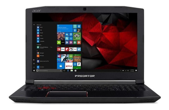 Notebook Gamer Acer Predator Helios 300 G3-572-75l9 Core I7 16gb Hd 2tb Nvidia Geforce Gtx 1060 6gb 15,6 Fhd Windows 10