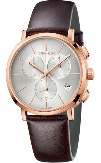 Reloj De Cuarzo Elegante Calvin Klein Para Hombre K8q376g6