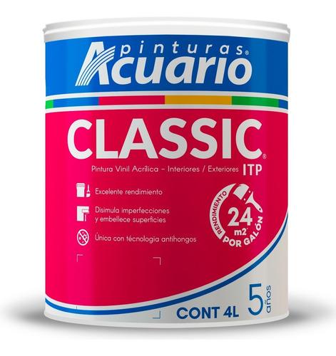 Imagen 1 de 4 de Pintura Vinil Acrílica Itp Classic 4l - Varios Tonos