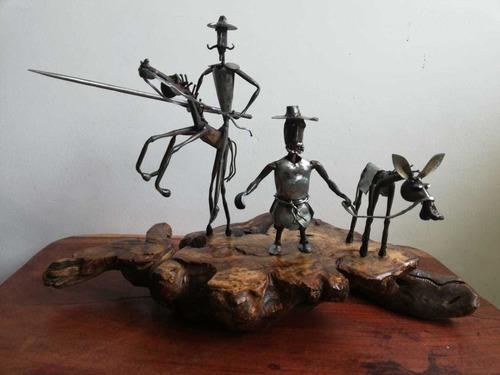 Escultura Quijote Con Sancho