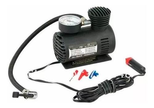 Mini Compresor Inflador Aire 12v Auto Medidor Presión 250psi