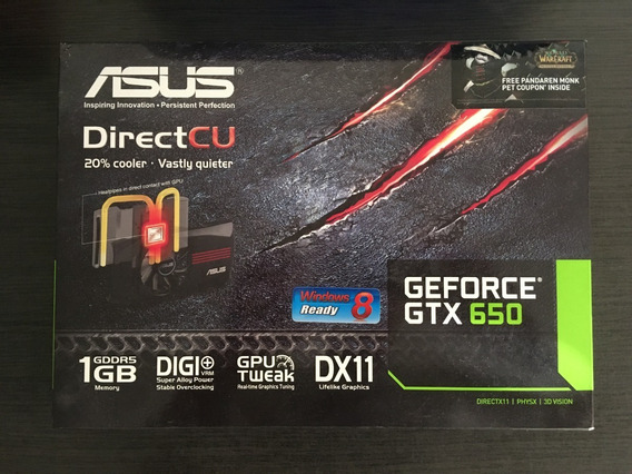 Asus Gtx 650 1gb Ddr5 Impecable!!