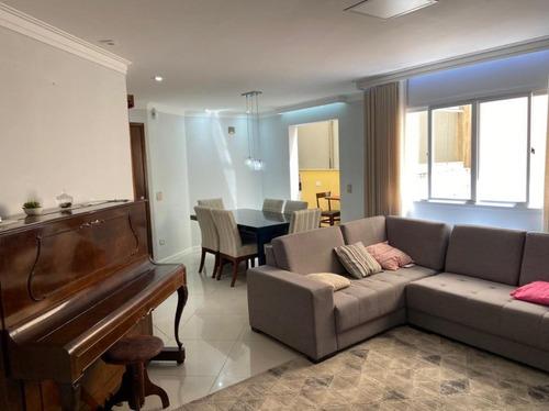 Apartamento Com 3 Dormitórios À Venda, 108 M² Por R$ 590.000 - Campestre - Santo André/sp - Ap6104
