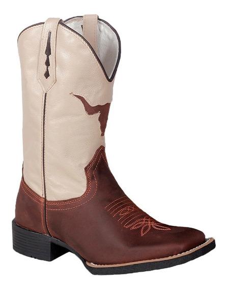 Bota Texana Country Couro Legitimo M2138