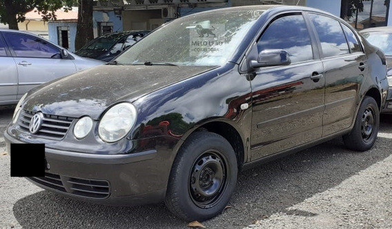 Polo Sedan 1.6 4p - 03/03 - Preto, Completo, Pouco Rodado *