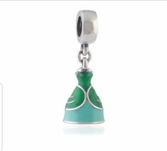 Berloque Ariel Pequena Sereia P/pulseira Pandora Folheada
