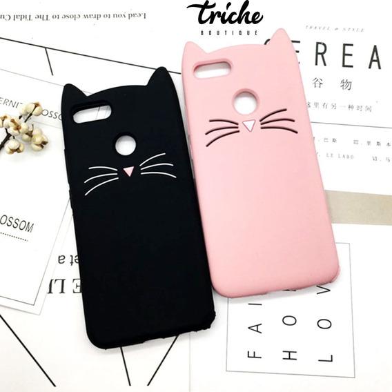 Funda Botarga Diseño Gato Bigotes Colores Huawei Y9 2018